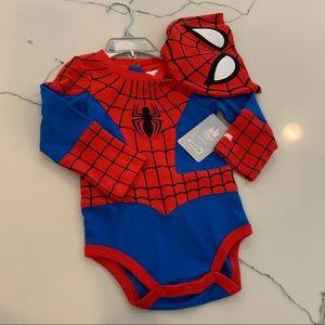 NWT | Disney Baby Spider Man Onesie & Hat